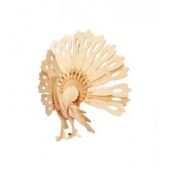 Łamigłówka drewniana Gepetto - Paw (Peafowl)