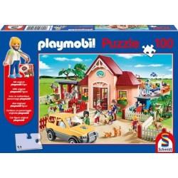 Puzzle 100 el. PLAYMOBIL U weterynarza + figurka