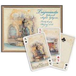 Cartamundi: Karty do brydża 2x55 kart - Polska akwarele