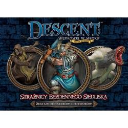 Descent: Strażnicy Bezdennego Siedliska - zestaw bohaterów i potworów