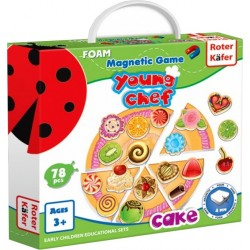 Young Chef - Cake PIZZA - Gra Magnetyczna (Roter Kafer)