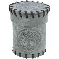 Kubek na kości Zamszowy - Grafitowy Leśny