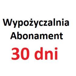 Abonament wypożyczalni 30 dni