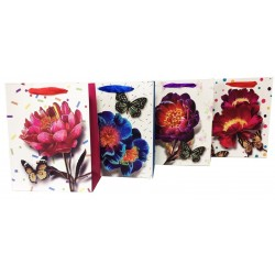 Torebka Lux A4 26x32x10 Kwiaty Duza