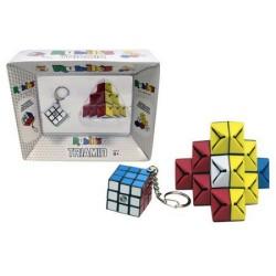 Zestaw Kostka Rubika Brelok + układanka Triami