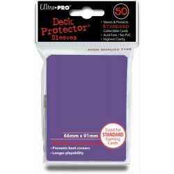 Deck Protector Solid Purple/Fioletowy 50 (66x91mm) standard