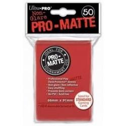 Deck Protector Pro-Matte Red/Czerwony 50 (66x91mm) standard