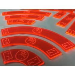 Zestaw akrylowych wskaźników do gry X-Wing (Rebelia), Geekmod