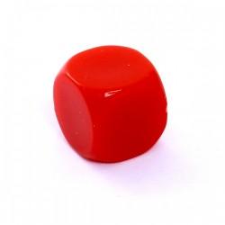 Kość REBEL matowa k6 Ścian - 6 mm - Bez symboli Czerwona pusta