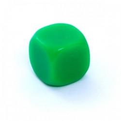 Kość REBEL matowa k6 Ścian - 6 mm - Bez symboli Zielona pusta