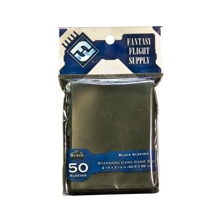 Standard Card Game Sleeves Black FFG