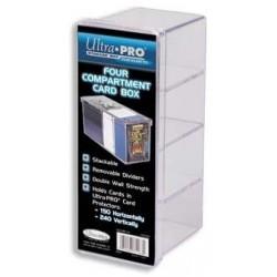 Pudełko na karty w koszulach czteroczęściowe (akrylowe Ultra Pro)