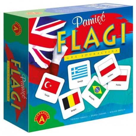 Układanka pamięciowa FLAGI dla dzieci