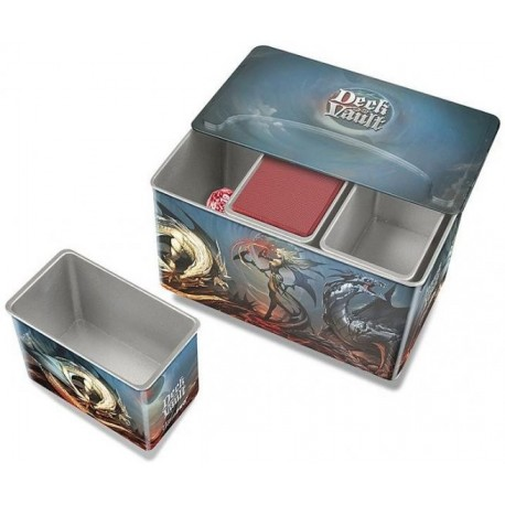 Pudełko dragon DECK VAULT (metalowe) Tin Trio, Realms of Havoc
