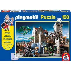 Puzzle PLAYMOBIL 150 el. Bitwa o królewski skarb + figurka