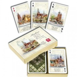 Cartamundi: Karty do brydża 2x55 kart - Kraków akwarele