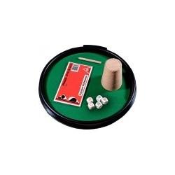 Kości pokerowe Piatnik - zestaw z tacką i kubkiem