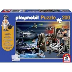 Puzzle 200 el. PLAYMOBIL Super szpieg + figurka