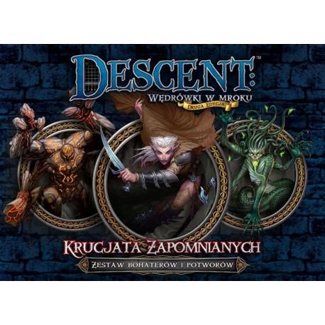 Descent: Krucja a Zapomnianych - zestaw bohaterów i potworów