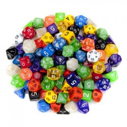 Kostka do gry: kryształ k100