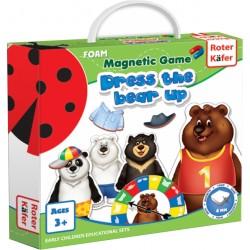 Ubierz Misia (Dress a Bear Up) - Gra Magnetyczna (Roter Kafer)