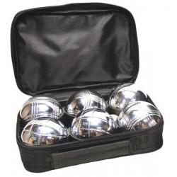 Boule 6 szt. srebrne welurowym etui