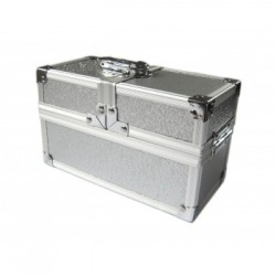 The Crypt - Lockable Double Metal Deck/Dice/Toploader Box - Silver