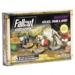Fallout Wasteland Warfare - Ack Ack, Sinjin & Avery Miniatures Expansion