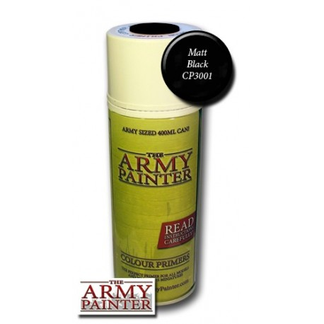 Army Painter Matt Black Colour Primer (spray)